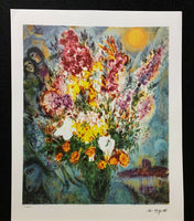 "MARC CHAGALL ""Floral Bouquet"" Limited Edition Colour Lithograph"