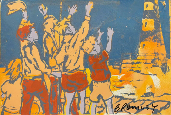 "DAVID BROMLEY ""Ahoy There"" Signed Screenprint on Card 39cm x 56cm"