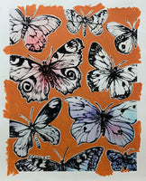 "DAVID BROMLEY ""Butterflies"" Mixed Media on Paper 107cm x 87cm"