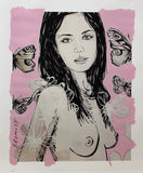 "DAVID BROMLEY Nude Series ""Mallory"" Mixed Media on Card 110cm x 91cm"