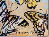 "DAVID BROMLEY ""Golden Butterflies"" Signed Limited Edition Print 50cm x 60cm"