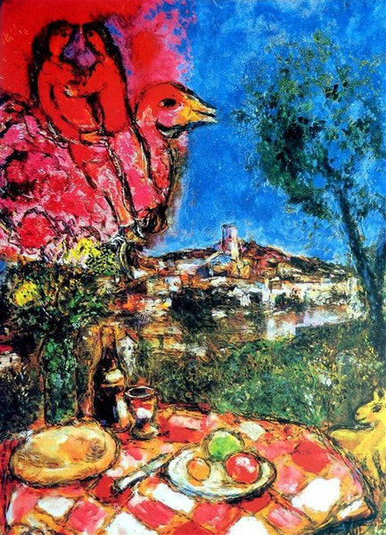 "MARC CHAGALL ""Bouquet Over The City"" Limited Edition Colour Lithograph"