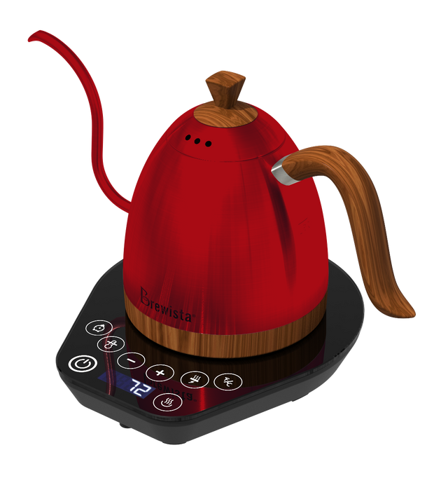 Brewista Artisan 600mL Gooseneck Variable Temperature Kettle - Red - Brewista
