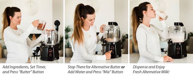Making Alternative Milks & Butters is easy with the NutraMilk!
