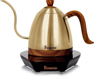 Brewista Artisan 600mL Gooseneck Variable Temperature Kettle - Gold