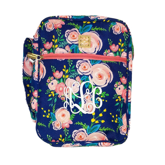 Bible Cover - Navy Floral