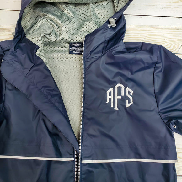 Charles River New Englander Rain Jacket -- Navy