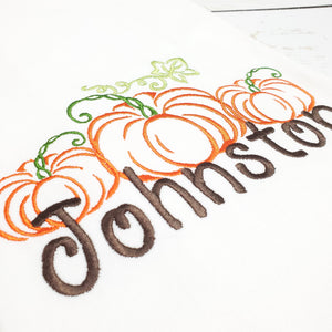 Triple Pumpkin Kitchen Towel