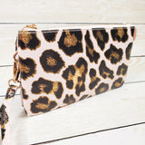 Crossbody Clutch - Vegan Leather - Leopard