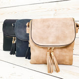 Fold-over Two Compartment Crossbody Purse - 3 Colors