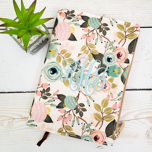 Journal Cover - Coral Floral