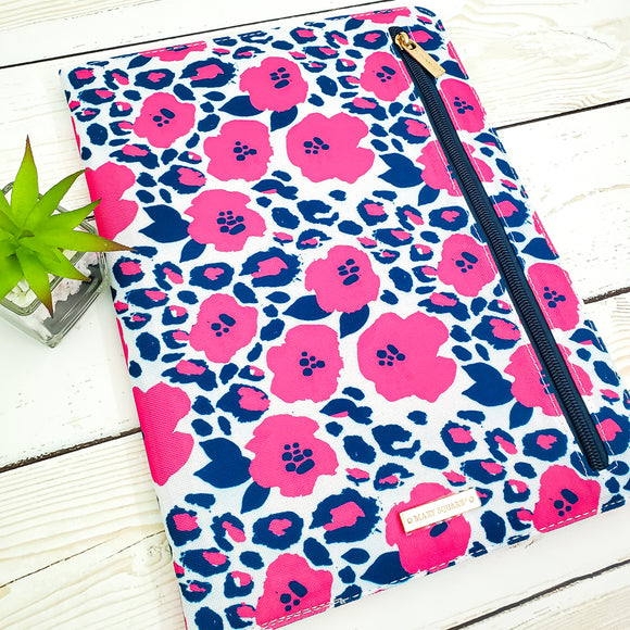 Legal Pad Portfolio - Refillable - Notepad - Wild Posy Floral
