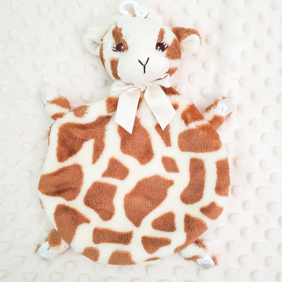 Wee Lovey - Bearington Collection - Small Minky Baby Blanket - Personalized Baby Gift --Giraffe
