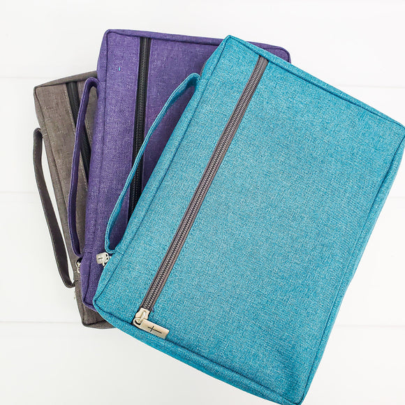 Basic Bible Cover - Solid Book Cover - 2 Colors Teal and Purple