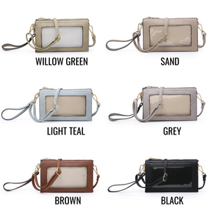 Crossbody Cell Phone Purse with Cell Phone Window