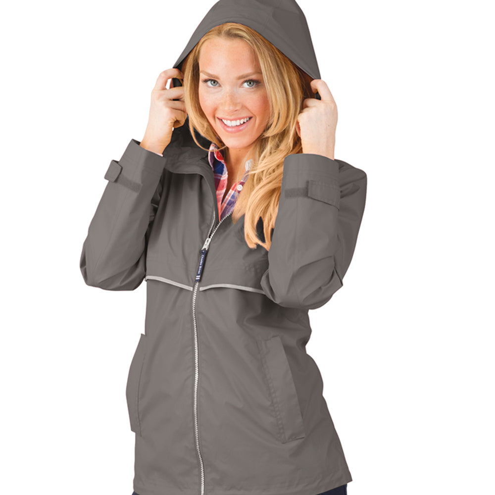 Charles River New Englander Rain Jacket -- Grey