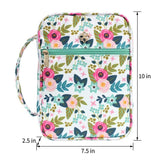 Bible Cover - Teal and Coral Floral Book Cover - Organizer