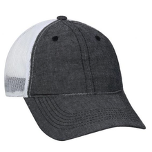Ladies Mesh Back Chambray Trucker Hat - 3 Colors