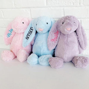 Easter Bunny -- Baby Gift -- Easter Basket Toy -- 3 Colors -- PREORDER