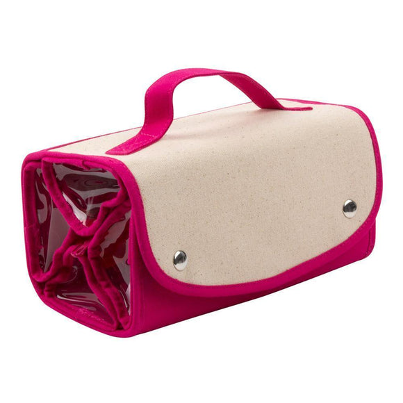 Canvas Roll up Travel & Cosmetics Case - 3 Colors