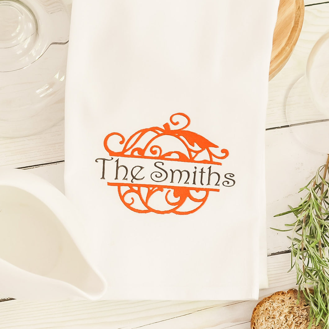 Split Pumpkin Kitchen Towel