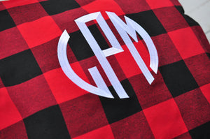 Buffalo Plaid Pillow Cover - Black & White - Red & Black