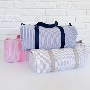 Seersucker Duffle Bag - 5 Colors