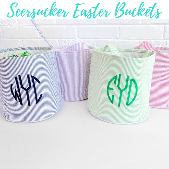 Seersucker Easter Basket PREORDER