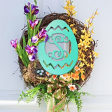 Wooden Monogram -- Easter Egg -- Single Initial
