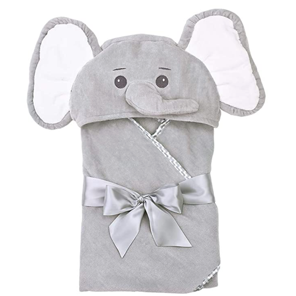 Hooded Towel for Babies and Toddlers - Elephant