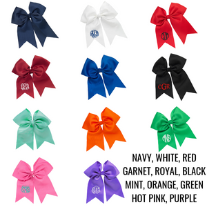 Monogrammed Hair Bow for Girls - 11 Colors