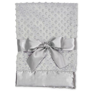 Minky Satin Baby Blanket - 4 Colors