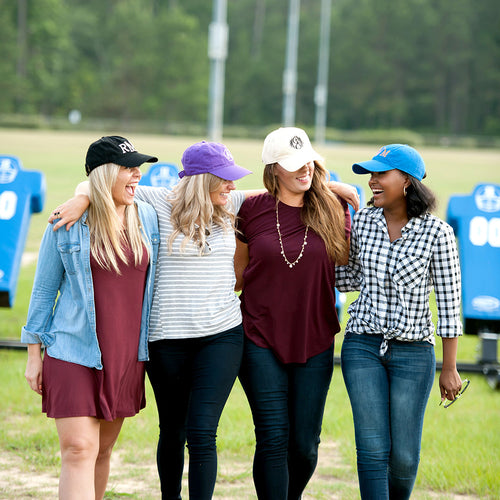 Solid Monogrammed Ball Cap Hat - 5 Colors