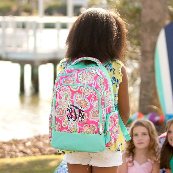 Backpacks for Girls - Hot Pink Paisley - Book Bag - Back to School
