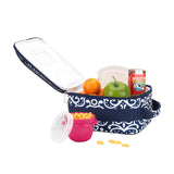 Girls Lunch Box - Parker Paisley - Gray and Aqua Mint
