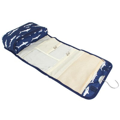 Shark Roll Up Toiletry Bag - Navy Blue