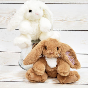 Stuffed Bunny -- Baby Gift -- Easter Basket Gift -- Small