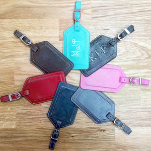 Leather Luggage Tags - 7 Colors