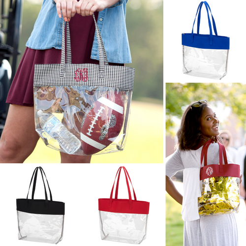Clear Stadium Friendly Gameday Tote - 7 Colors