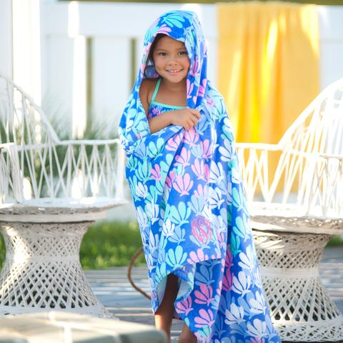 Kids Hooded Towel - Seashells