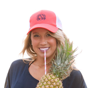 Ladies Mesh Back Trucker Hat - Coral