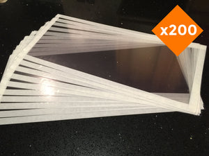 Sand Blasting Cabinet Protection Screens x 200 Quantity