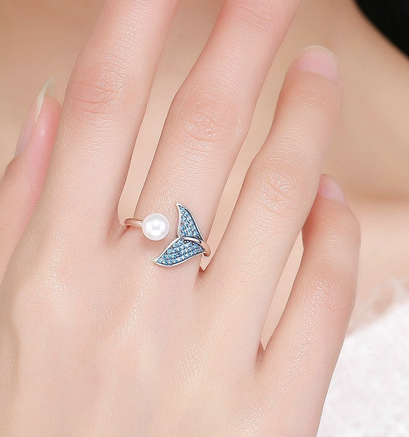 Sterling Silver & Pearl Gift Of The Mermaid Ring