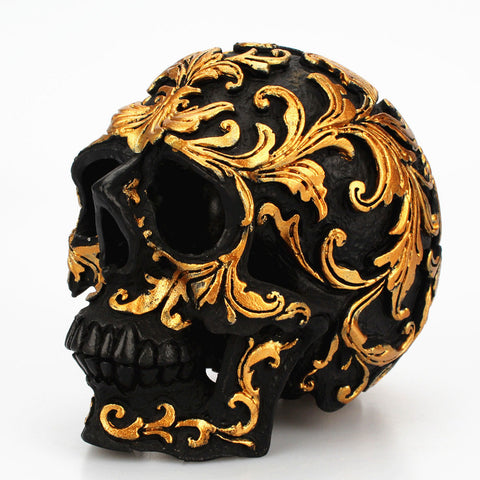 Skull Addicts Golden Glam Skull