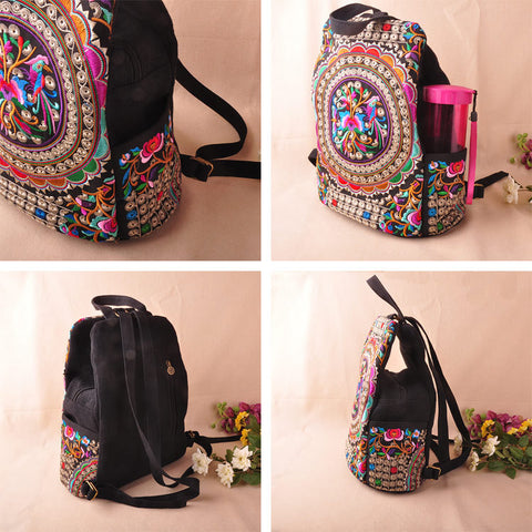 Image of Handmade Embroidery Ethnic Backpack