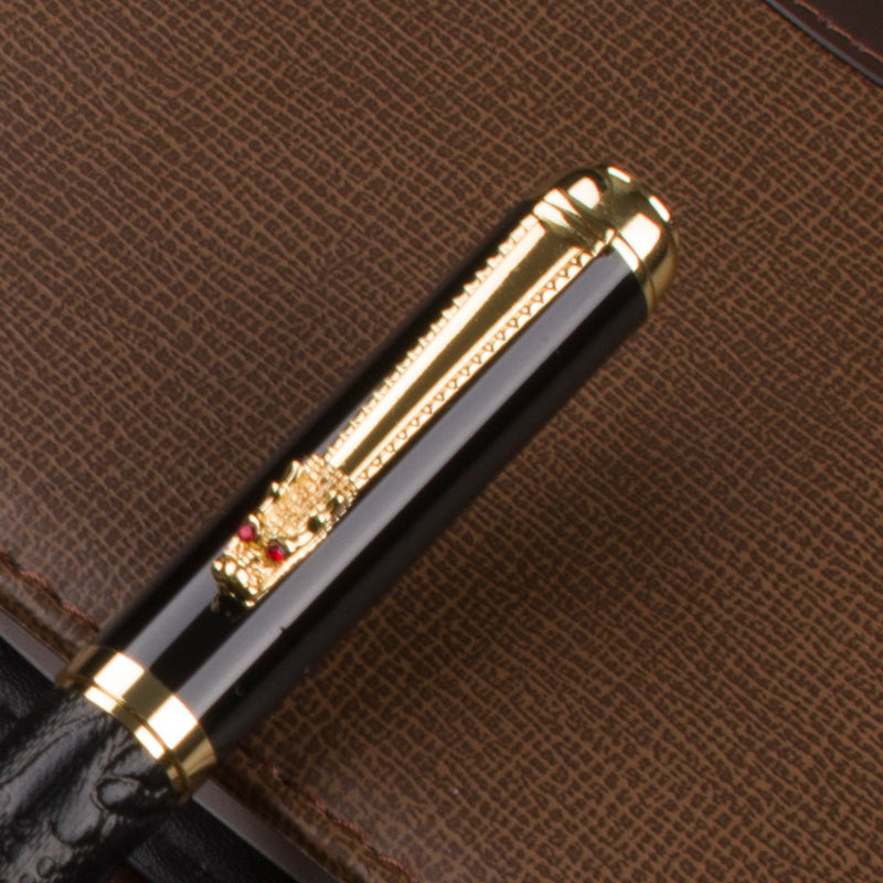Black and Gold Dragon Pen