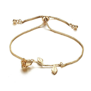 Rose Flower Bracelet - 3 Colors
