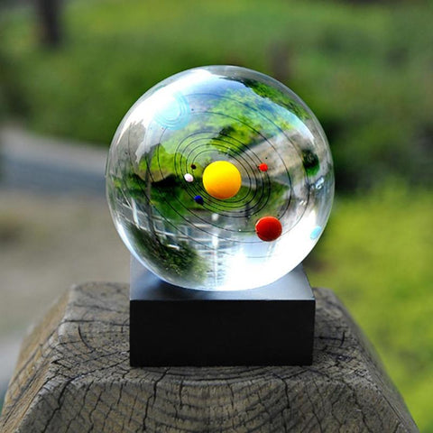 Crystal Solar System Ball