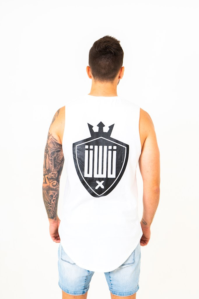 IIWII Muscle tee white Shield