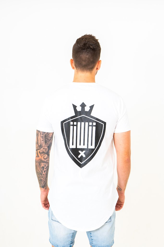 IIWII white shield tee